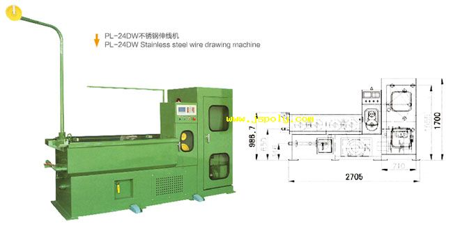 stainless steel fine wire drawing machine