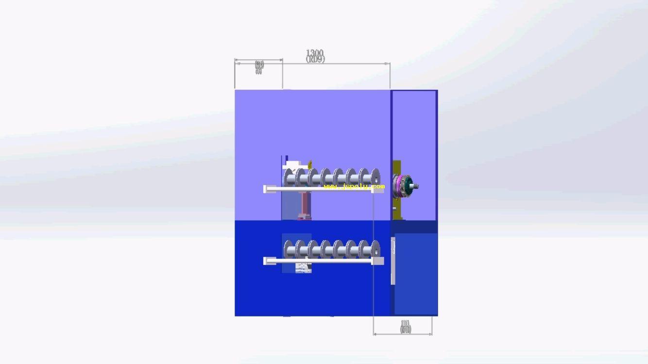 自动装卸轴收线机